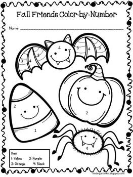 Color By Numbers Halloween Printable 3