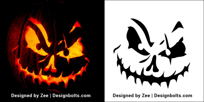 Evil Jack O Lantern Patterns 3