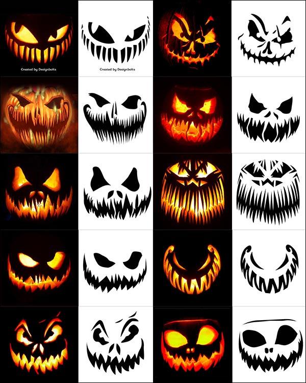 Evil Jack O Lantern Patterns 8