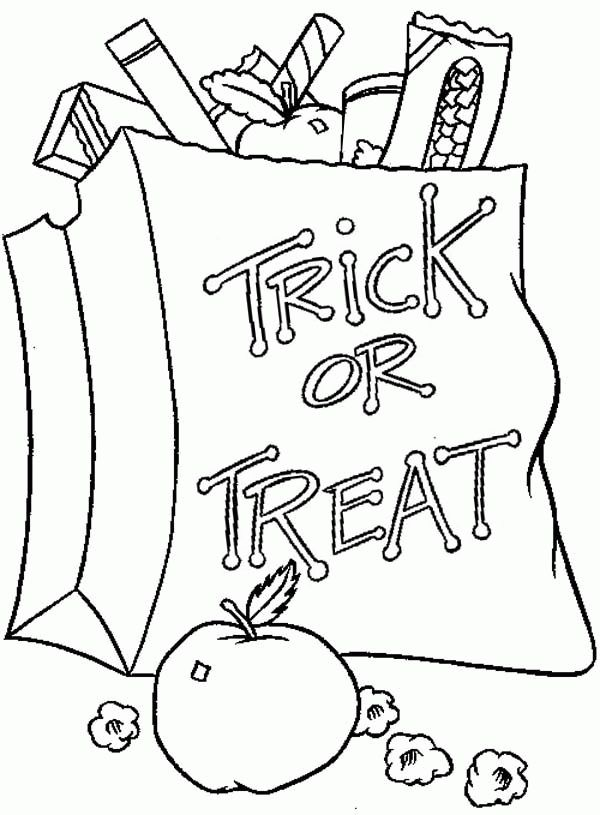Halloween candy coloring pages 1