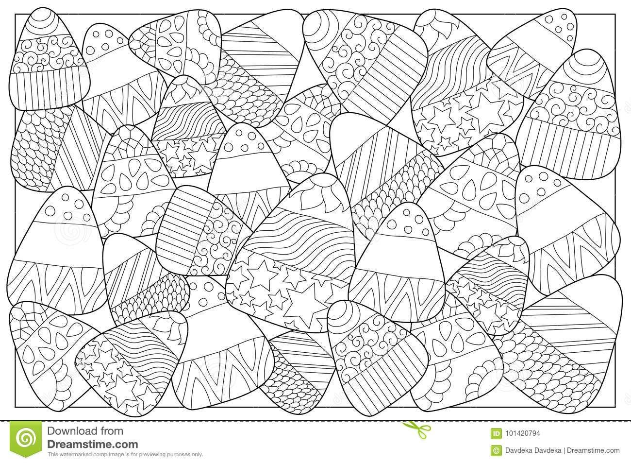 Halloween candy coloring pages 4