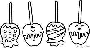 Halloween candy coloring pages 6
