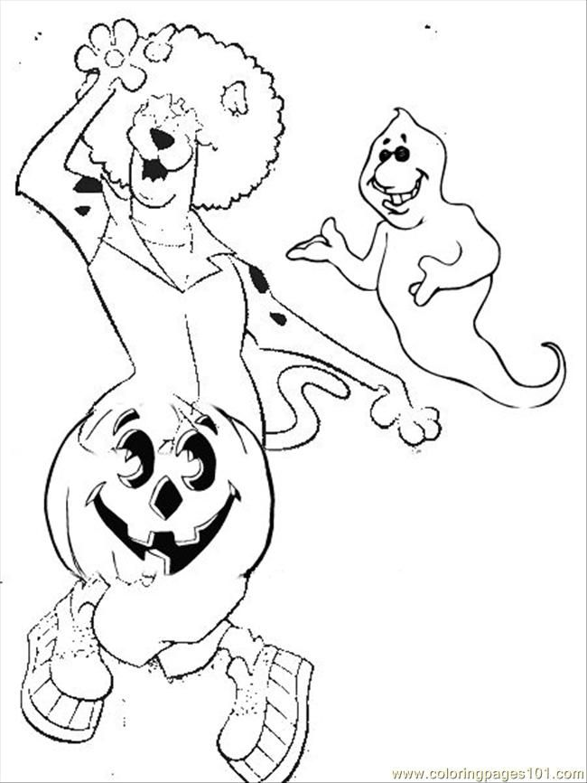 Scooby Doo Halloween Coloring Pages 6