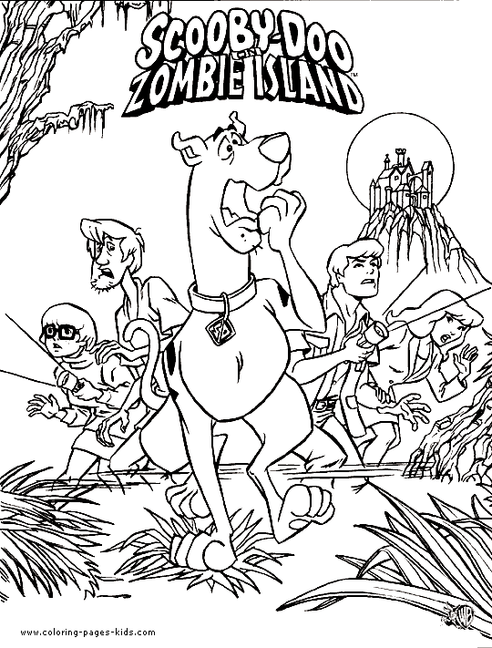 Scooby Doo Halloween Coloring Pages 7